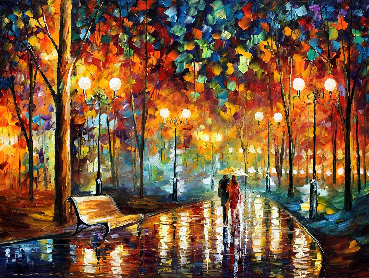 love through leonid afremov s strokes 4ever21christina