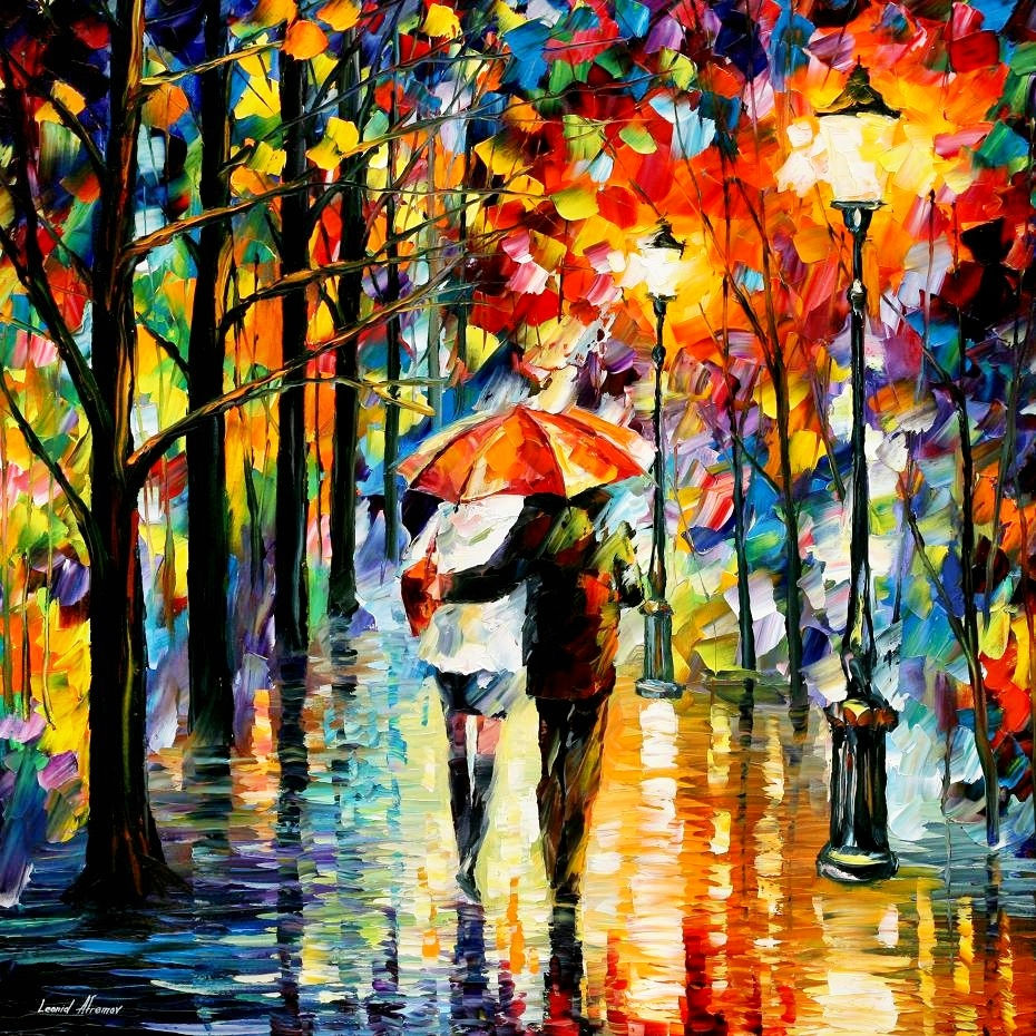 Love Through Leonid Afremov's Strokes