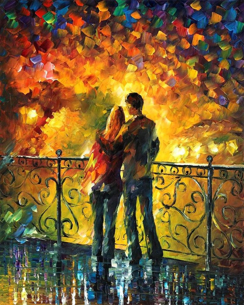 Love through leonid afremov s strokes 4ever21christina for Best mural artists