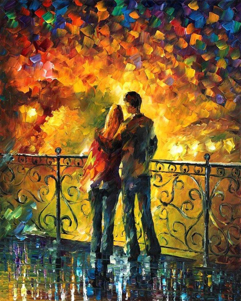 Love through leonid afremov s strokes 4ever21christina for Best mural artist