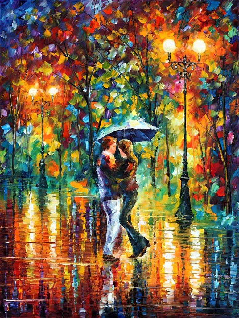 Love through leonid afremov s strokes 4ever21christina for The best artist websites