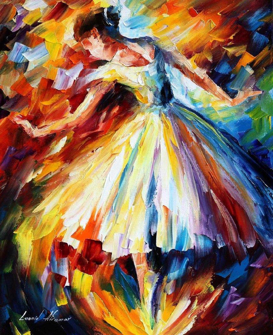Ballet through leonid afremov s strokes 4ever21christina for Best mural paint