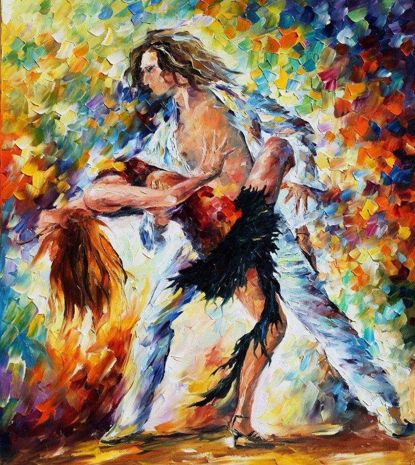 Dance Through Afremov'sStrokes