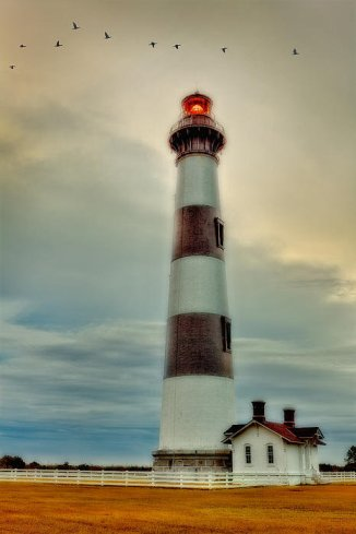 bodie-lighthouse-outer-banks-abstract-painting-dan-carmichael