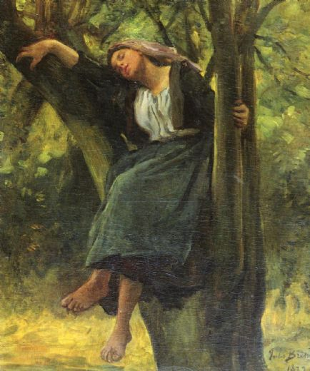 jules-breton-asleep-in-the-woods-77005