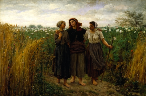 Jules_Adolphe_Aimé_Louis_Breton_-_Returning_from_the_Fields_-_Walters_3758