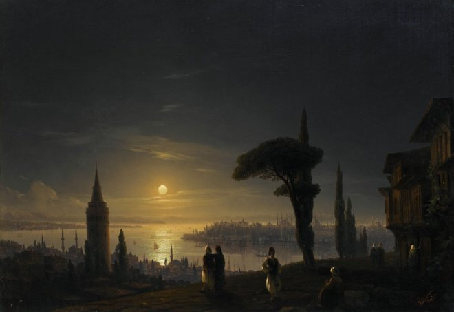 Ivan_Konstantinovich_Aivazovsky_-_The_Galata_Tower_by_Moonlight,_1845