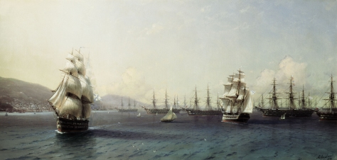 ivan_konstantinovich_aivazovsky_010_the_black_sea_fleet_in_feodosiya