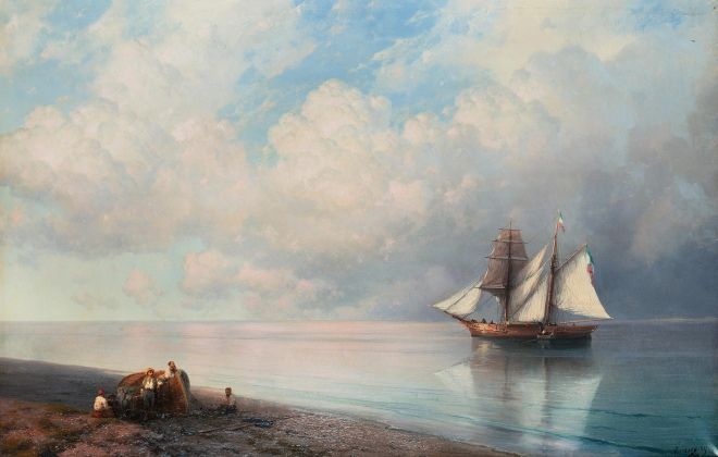 Ivan_Konstantinovich_Aivazovsky,_Calm_early_evening_sea