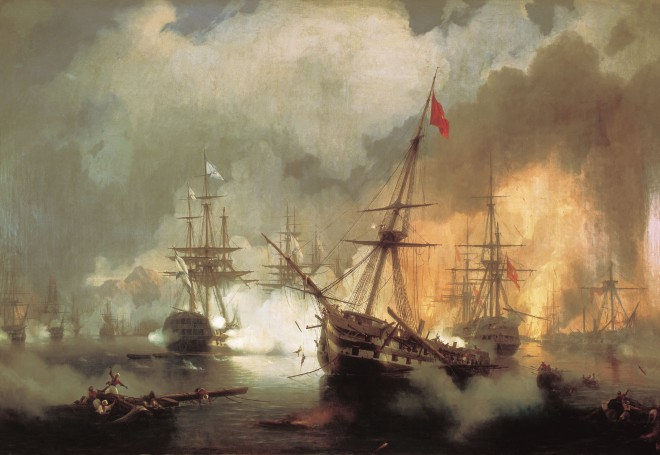 IvanAivazovsky-Battle-of-Navarino-1846